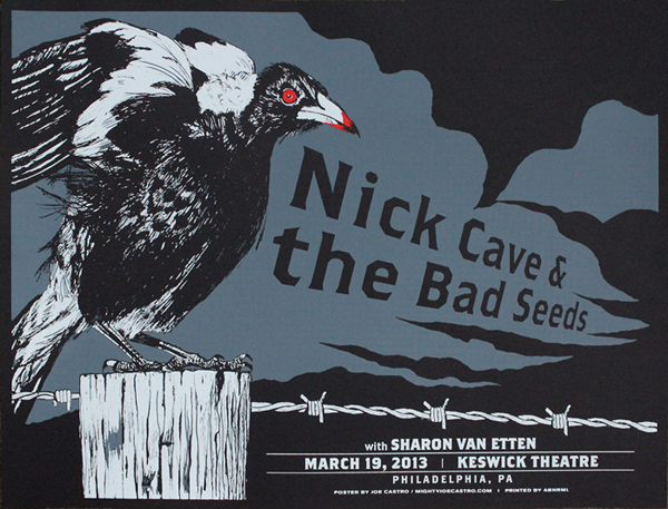 Nick Cave poster by Joe Castro_600