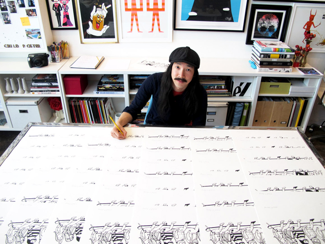 Signing LongBoarders print for Poster Child Print release Thursday, March 28