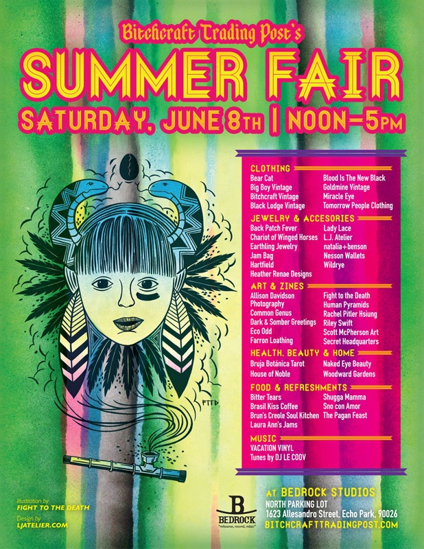 Bitchcraft Summer Fair Flier
